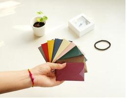 $enCountryForm.capitalKeyWord Australia - 10pcs lot Small Beautiful Colored Pearl Blank Simple Paper Envelope