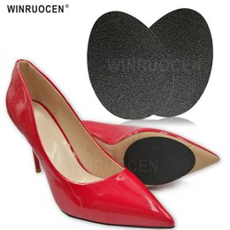 Discount adhesives for shoe soles - 2 Pairs Rubber Anti-Slip Shoes Soles Protector Pads for High Heel Shoe Boot Sandal Non Slip Adhesive Forefoot Sole Inser