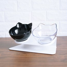 $enCountryForm.capitalKeyWord Australia - Non-slip Cat Bowls Double Bowls With Raised Stand Pet Food And Water Bowls For Cats Dogs Feeders Cat Bowl Pet Supplies
