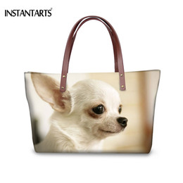 02ab8c0e9cf INSTANTARTS Fashion Women Large Tote Bags 3D Animal Dog Chihuahua Printed  Handbags for Female Shopping Brand Designer Beach Bags
