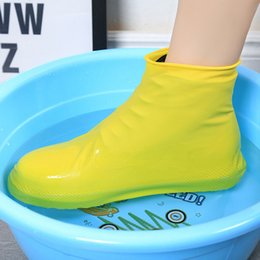 Water Proof Coatings Australia - Summer Antiskid Waterproof Raincoat Set Rain Coat Shoe Boots Cover Water Playing Shoes Latex Antiskid and Rain Proof Shoe Cover
