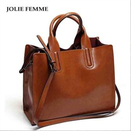 $enCountryForm.capitalKeyWord Australia - Jolie Femme Women Handbags Women Oil Wax Bags Famous Brand Big Casual Women Shoulder Tote Bags Large Capacity Bolosa Mujer Sac