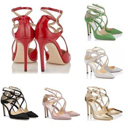 Wholesale New designer womens girl high heels Lancer Fashion Luxury CM Dress Office Party Wedding Crystal Shoes size With box