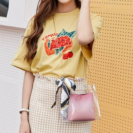 Cotton Viscose Scarves Australia - 2019 Brand Fashion Small Shoulder Bag Women Small Crossbody Messenger Bucket Bag Teenage Girls Sling bag With Scarf Tie for Lady