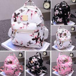 Mini feMale backpack online shopping - Fashion Women Backpack High Quality Youth Floral Print Backpacks for Teenage Girls Female School Shoulder Bag Bagpack mochila