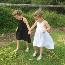 4ae8f4992769 Toddler Kids Baby Girls Sleeveless Bandage Backless Casual Long Dress  Sundress Skirt Outfit