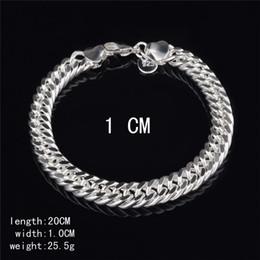 $enCountryForm.capitalKeyWord NZ - New Design 6MM 8MM 10MM 925 Sterling silver Figaro chain bracelet Fashion Men's Jewelry Top quality free shipping KKA3763