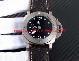 TiTanium braceleT waTch online shopping - Best Edition Watch ZF mm Crack Leather Bracelet Titanium CAL Movement Automatic Luxury Mens Watch