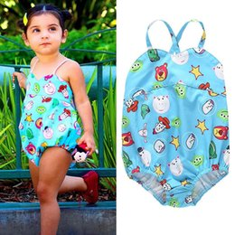 Swimwear Infant Australia - 0-3year Cartoon Kids Swimwear Baby Swimwear Girls Swimsuit One-piece Girls Swimwear Infant Bikini Kids Bathing Suits baby girl clothes