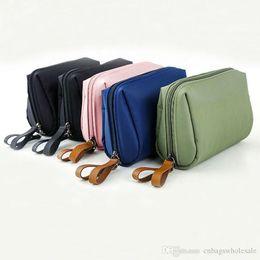 Nylon Pouches Zippers Australia - Waterproof nylon women cosmetic pouch bag brushes, lipstick organizer storage make up zipper bag hand bag