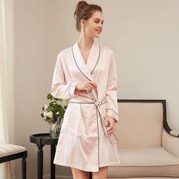 3aeb8b918 Women Nightwear Brands Australia - CEARPION New Brand Sleepwear Women Satin  Bath Robe Kimono Nightwear Sexy