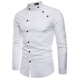 Double Shirt Designs Australia - Fast-selling International Trade New Men's Fashion Cut Double-front Design Long-sleeved Shirt in Spring and Autumn of 2019