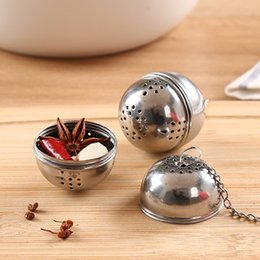 stainless steel soup pots 2019 - Thicken Tea Filter Ball Stainless Steel Flavored Ball Strainer Hot Pot Spice Infuser Kitchen Cooking Soup Infuser Tools
