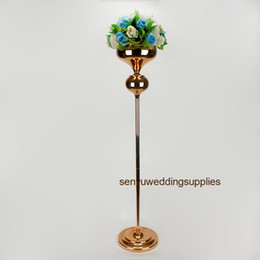 tall flower stands for centerpieces Australia - 120cm tall )new style Tall gold metal wedding flower stand centerpieces for decoration senyu0274