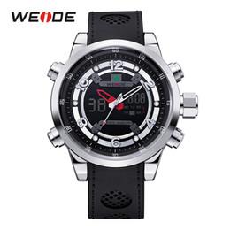 Weide Watch Men Military Australia - Weide Men Luxury Brand Casual Military Quartz Watch Analog Waterproof Rubber Strap Date Men Sport Watch Relojes Montres Hommes Y19052103