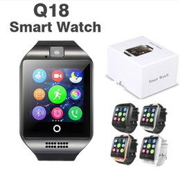 dress smart watch Australia - Q18 Smart Watch Bluetooth Smart watches for Android Cellphones Support SIM Card Camera Answer Call and Set up Various Language with Box
