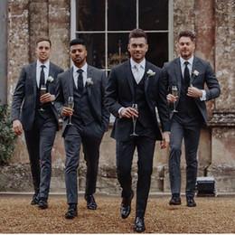 $enCountryForm.capitalKeyWord Canada - 2019 Formal Groomsmen Wedding Suit Tuxedos Three Pieces (Top+Pants+Vest) Bestmen Wedding Tuxedos Suits Formal Business Men Work Suits