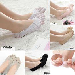 $enCountryForm.capitalKeyWord Australia - 5Colors Women Plain Hollow Sock Slippers Summer Nonslip Invisible Five Finger Toe Socks Ankle Women Girl Shallow Breathable Sock