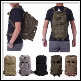 military camouflage clothing NZ - 12 Colors 30L Hiking Camping Bag Military Tactical Trekking Rucksack Backpack Camouflage Molle Rucksacks Attack Outdoor Bags 50pcs