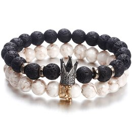 $enCountryForm.capitalKeyWord Australia - New Fashion Beaded Women Men Bracelets Simple Classic Round Bead Charm Bracelets & Bangles For Men Handmade Accessories Gift