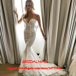 $enCountryForm.capitalKeyWord Australia - Sweetheart Appliqued Lace Mermaid Wedding Dresses 2019 Elegant Boho Beach Fishtail Bridal Gowns Court Train Custom Made Vestidos De Novia