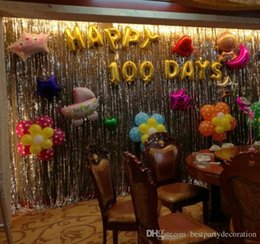 decorations anniversary NZ - Hot Sale Sequin Foil Curtain Rain Multi-color Fringe Tassel Wedding Backdrop Birthday Party Decoration for Anniversary Decoration