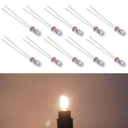 Bulb Warm Light NZ - 10pcs Car T3 12V 30MA Halogen Bulb External Halogen Lamp Replacement Dashboard Bulb Light Warm White #2687