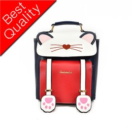 Styles Backpacks Australia - Women Backpacks School Backpacks Style Preppy Backpack Black Cat Fun Quality PU Leather Women's Shoulder Bag Travel Bags