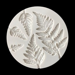 silicone mold cake leaf Australia - New Arrival Mimosa leaves Silicone Cake Mold Kitchen Baking Mold Sugar Craft Fondant Cake Tools Chocolate Mold