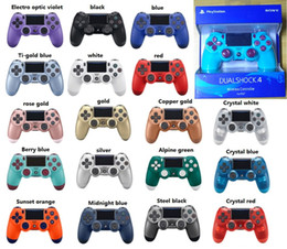 Ps4 colors online shopping - Newest Retail package colors PS4 controllers Wireless Controller Bluetooth Game Controllers Double Shock PS4 Play Station DHL