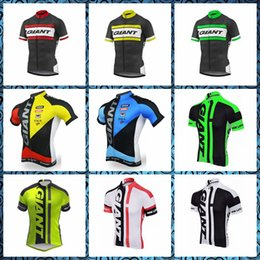 Bicycles Sale Australia - 2019 New GIANT team Cycling Short Sleeves jersey Hot Sale Summer MTB Bicycle Clothing 3D Gel Pad Sportswear U51048