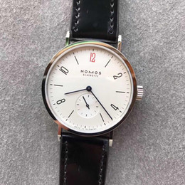 Gps steel online shopping - 2019 New Nomos Watch Horse Leather strap Stainless Steel Dial DUW Automatic Mov Sapphire Glass waterproof GP Factory luxury watches
