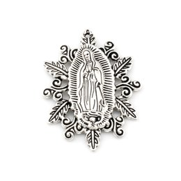 Chinese  Retro Our Lady of the Holy Scapular Medal Religion Charm Beads 50X37mm 30pcs Lots Antique silve pendant manufacturers