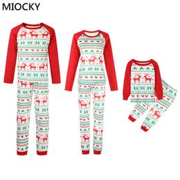 $enCountryForm.capitalKeyWord Australia - Family Matching Outfits XMAS PJs Adult Kids Cute Party Nightwear Pyjamas Cartoon Deer Sleepwear E0290