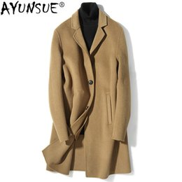 $enCountryForm.capitalKeyWord Australia - AYUSNUE 2019 New Men's Wool Coat Double-sided Woolen Long Jacket Men Korean Autumn Winter Mens Overcoat Coats D-01-1813 KJ3012