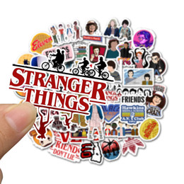 Wholesale stranger things stickers for sale - Group buy 50 bag Car Stickers Stranger Things Hawkins For Laptop Skateboard Pad Bicycle Motorcycle PS4 Phone Luggage Decal Pvc guitar Stickers