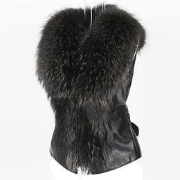 Wholesale 2019 Chic Lady Faux Fur Vest Casual Waistcoat Winter Autumn Solid V-neck Zipper Soft Sleeveless Women Outwear Coat 2019