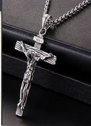 $enCountryForm.capitalKeyWord Canada - Retro Mens Necklace Jesus Believer Designer Necklace Holy Cross Necklaces Titanium Steel Fashion Jewelry Hot sale
