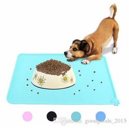 Cat Food Storage Australia - Wipe Clean Pet Supplies Pet Dog Puppy Cat Feeding Mat Pad Cute Silicone Bed Dish Bowl Food Water Feed Placemat 6 Colors b221