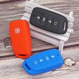 car silicone key cover Canada - Cheap Key Case for Car Silicone Rubber car key fob cover case for Changan 35 75 PLUS CS85 COUPE CS95 Remote Protect