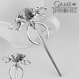 Discount games thrones costume - ccessories Costumes Badge 2018 Game of Thrones Season 7 Daenerys Targaryen Dragon Brooches Silver Metal Pins Brooch Gift