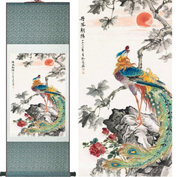 Chinese Floral Paintings Australia - Traditional Silk Art Painting Prospitious And Auspicious Chinese Art Painting Home Office Decoration Chinese Painting