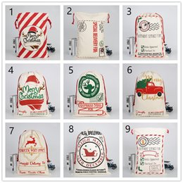 $enCountryForm.capitalKeyWord Australia - 2019 Christmas Gift Bag Elk Christmas Bag Cotton Eco-friendly Canvas Bag Santa Claus gift bags A04