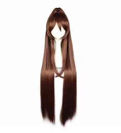 medium length hair styles NZ - adjustable Select color and style 100cm Long Synthetic Hair Costume Wig Perucas Cosplay Wigs +1 Ponytail