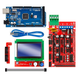 12864 lcd Canada - Freeshipping Excellent Mega 2560 R3 Mega2560 REV3 +RAMPS 1.4 Controller +RAMPS1.4 LCD 12864 LCD for 3D Printer kit