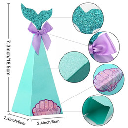 Candy Gifts Diy Australia - Mermaid Favor Box Birthday Party Decorations DIY Paper Box Baby Shower Boy Girl Little Mermaid Candy Boxes