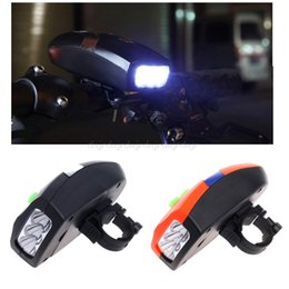 $enCountryForm.capitalKeyWord NZ - Universal 3 LED Bike Light Bicicleta Bicycle Light White Front Head Cycling Lamp + Electronic Bell Horn Hooter Siren N20