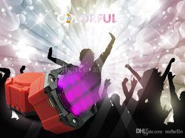 $enCountryForm.capitalKeyWord Australia - V3199 Colorful LED Wireless Bluetooth Speaker Party Home Theater Speaker Mini Rotating Light KTV Club Disco DJ Mini Ambiance Light Speaker
