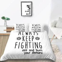 white single beds Australia - Inspirational Bedding Set King Creative Simple Fashionable White Duvet Cover Queen Size Single Double Twin Full Bed Cover with Pillowcase