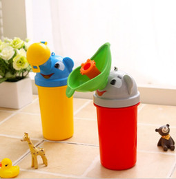 Boys Urinals Australia - Cute Portable Baby Travel Urinal Car Toilet Camping Portable cartoon urine bottle for children Boy Girl Kid Potty Elephant urinal-p